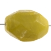 Semi-Precious 15x20mm Facetted Bead Newjade Coated Butterjade